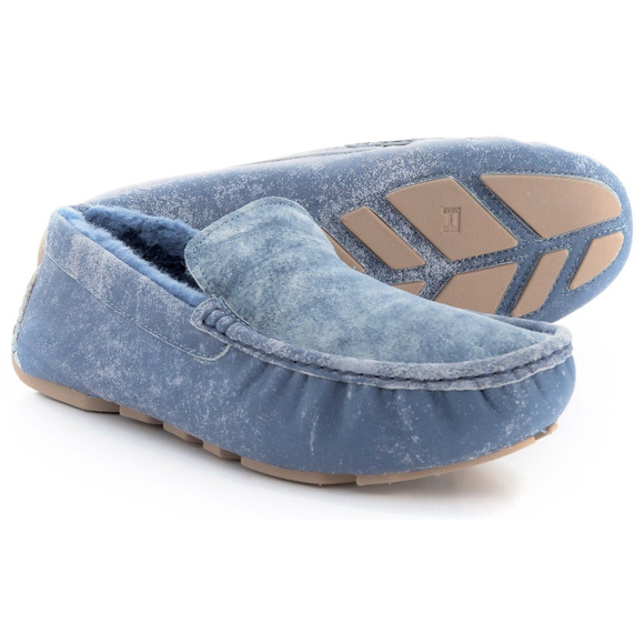 75a3dfbf562 UGG Henrick Twinface Driving Moccasins Slippers NWT